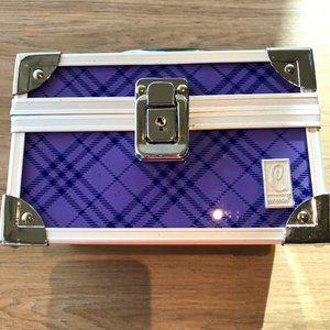 Caboodles purple plaid case